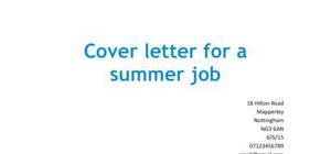 Student Cover Letter : examples and templates for student job