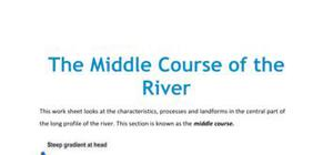 The middle course of the river