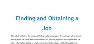 Finding and obtaining a job in French