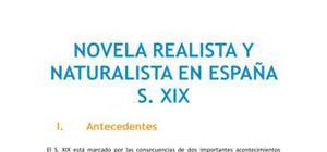 Novela realista y naturalista en España en el siglo XIX