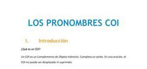 Los pronombres COI