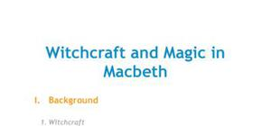 Witchcraft and magic in Macbeth (1606)