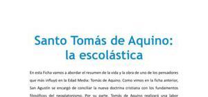 San Tomás de Aquino : la escolástica