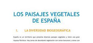 Los paisajes vegetales de España I