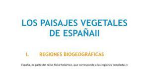 Los paisajes vegetales de España II