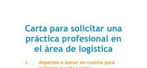 Carta de presentación para una práctica en logística
