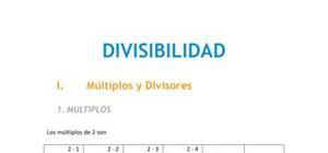 La divisibilidad