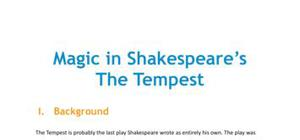 Magic in Shakespeare's The Tempest