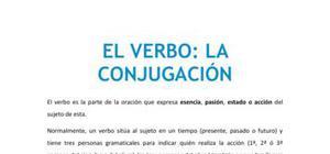 El verbo : la conjugación