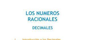 Los números racionales : decimales