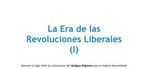 La era de las revoluciones liberales (I)