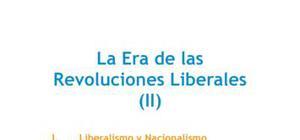 La era de las revoluciones liberales (II)