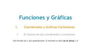 Funciones y Gráficas - Matemáticas - 1° de ESO