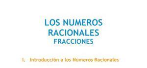 Los números racionales : fracciones - Matemáticas - 1° de ESO