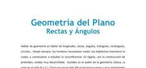 Geometría del Plano : Rectas y Ángulos - 1° de ESO