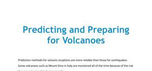 Predicting and preparing for volcanoes