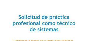 Carta de presentación Práctica Técnico de sistemas