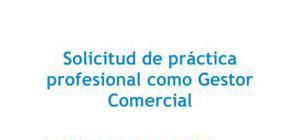 Carta de presentación Práctica Gestor comercial