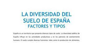 La diversidad del suelo de España : factores y tipos