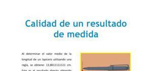 Calidad de un resultado de medida