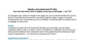 first job cv templates and examples for a first job
