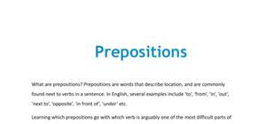 Prepositions in French - GCSE and A level