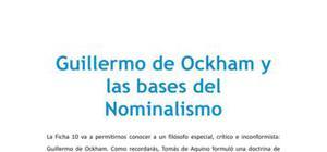 Guillermo de Ockham y las bases del nominalismo - Filosofía - 2 de bachillerato