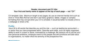 Reversed chronology CV template