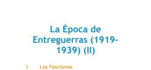 La época de entreguerras II - Historia - 4 de ESO