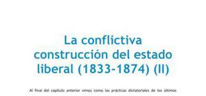 La conflictiva construcción del estado liberal II - Historia - 2 de bachillerato