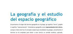 La geografía y el estudio del espacio geográfico - Geografía - 2 de bachillerato