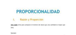 Proporcionalidad - Matemáticas - 1 de ESO