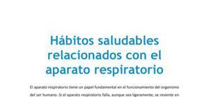 Hábitos saludables relacionados con el aparato respiratorio - Biología - 3 de ESO