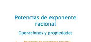 Potencias de exponente racional - Matemáticas - 4 de ESO
