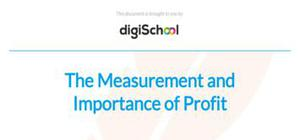 The measurement and importance of profit - Business studies - AS level