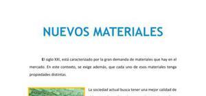 Nuevos materiales - Tecnología - 1 de ESO