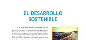 El desarrollo sostenible - Tecnología - 1 de ESO