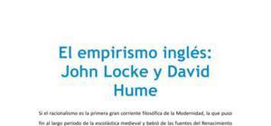 El empirismo inglés con John Locke y David Hume - Filosofía - 2 de bachillerato