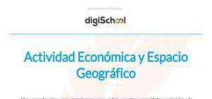 Actividad económica y espacio geográfico - Geografía - 3 de ESO