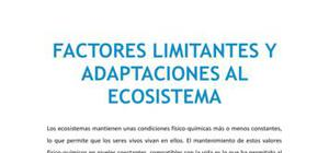 Factores limitantes y adaptaciones al ecosistema - Biología - 4 de ESO