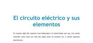 El circuito eléctrico y sus elementos - Tecnología - 4 de ESO