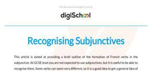 Recognising subjunctives - French - GCSE and A level