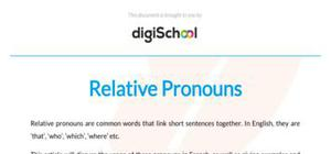 Relative pronouns - French - GCSE and A level