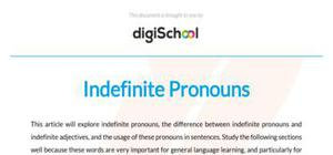 Indefinite pronouns - French - GCSE and A level