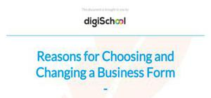 Reasons for choosing and changing a business form - Business studies - AS level