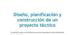 Diseño, planificación y construcción de un proyecto técnico - Tecnología - 3 de ESO