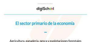 El sector primario de la economía - Geografía - 3 de ESO