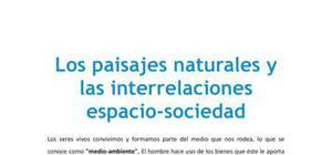 Los paisajes naturales y las interrelaciones espacio-sociedad - Geografía - 2 de bachillerato