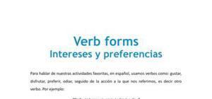Formas de verbos - Inglés - 1 de bachillerato