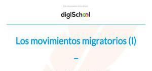 Los movimientos migratorios, emigración e inmigración - Geografía - 2 de ESO